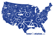 Tour de States Graphic: T-Shirt Logo Design